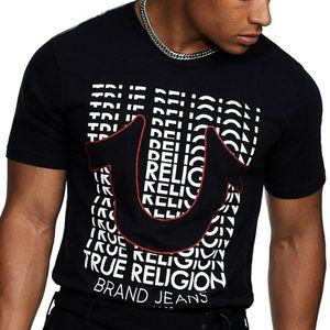 True Religion Men's Horseshoe Logo Repeat Tee